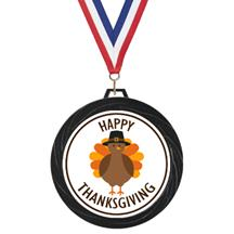 Black Lazer Thanksgiving Medal