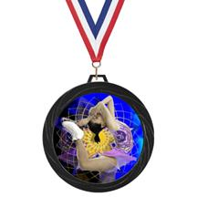 Black Lazer Ice Skating Medal