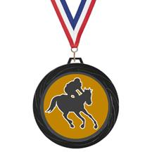 Black Lazer Jockey Medal