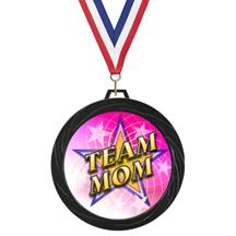 Black Lazer Team Mom Medal