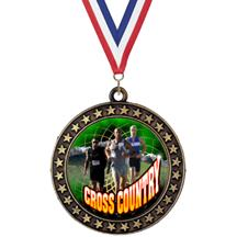 Champion Star Cross Country Insert Medal