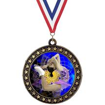 Champion Star Insert Ice Skating Medal