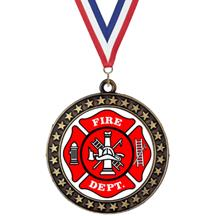 Champion Star Insert Firefighter Medal
