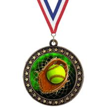 Champion Star Softball Insert Medal