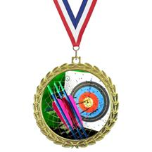 Bright Wreath Insert Archery Medal