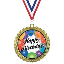 Bright Wreath Insert Birthday Medal