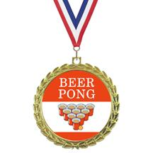 Bright Wreath Insert Beer Pong Medal