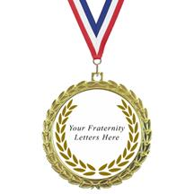 Bright Wreath Insert Fraternity Medal