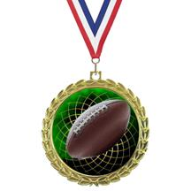 Bright Wreath Insert Football Medal