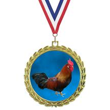 Bright Wreath Insert Chicken Medal