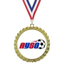 Bright Wreath Insert AYSO Medal