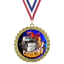 Bright Wreath Insert Chef Medal