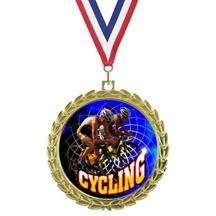 Bright Wreath Insert Cycling Medal