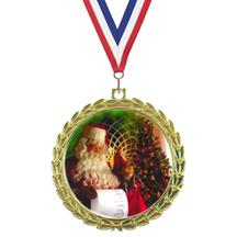 Bright Wreath Insert Christmas Medal
