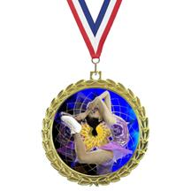 Bright Wreath Insert Ice Skating Medal