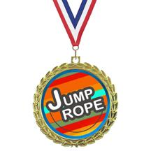 Bright Wreath Insert Jump Rope Medal