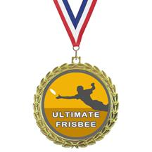 Bright Wreath Insert Ultimate Frisbee Medal