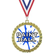 Bright Wreath Insert Paintball Medal