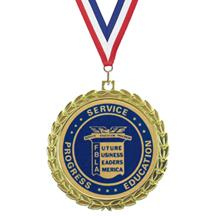 Bright Wreath Insert FBLA Medal