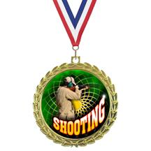 Bright Wreath Insert Shooting Medal