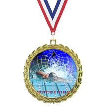 Bright Wreath Insert Swimming Medal