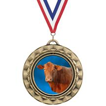 Spin Insert Cow Medal