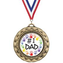 Spin Insert Father's Day Medal