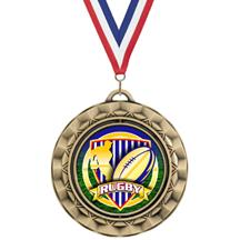 Spin Insert Rugby Medal