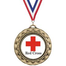 Spin Insert Red Cross Medal