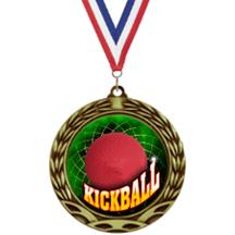 Antique Insert Kickball Medal
