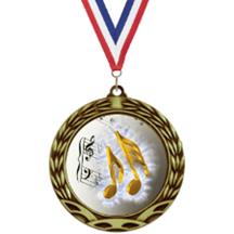Antique Insert Music Medal