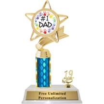 Father's Day Column With Trim Insert Trophy