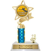Ultimate Frisbee Column With Trim Insert Trophy