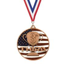 USA Flag 3rd Place Medal