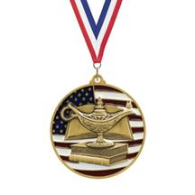 USA Flag Academic Medal