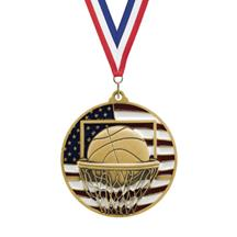 USA Flag Basketball Medal