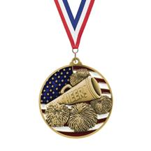 USA Flag Cheer Medal