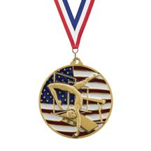 USA Flag Gymnastics Medal