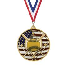 USA Flag Softball Medal