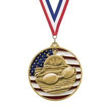 USA Flag Swimming Medal