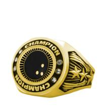Bright Gold Bowling Championship Ring