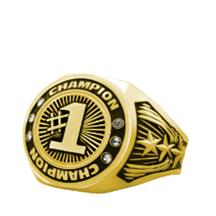 Bright Gold First Place Championship Ring