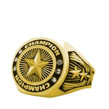 Bright Gold Star Championship Ring