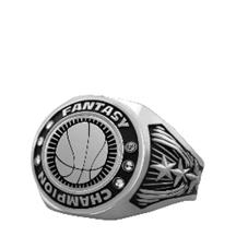 Bright Silver Basketball Championship Ring
