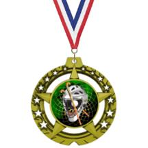 Jumbo Star Field Hockey Insert Medal