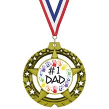 Jumbo Star Fathers Day Insert Medal