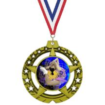 Jumbo Star Ice Skating Insert Medal