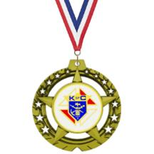 Jumbo Star Knights of Columbus Insert Medal