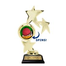 Triple Star Spin Kickball Insert Trophy