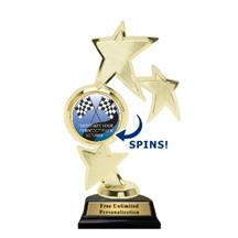Triple Star Spin Pinewood Derby Insert Trophy